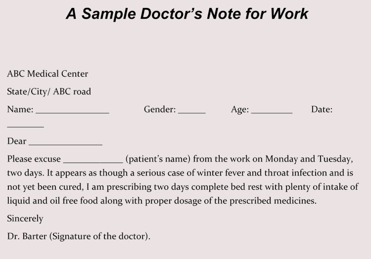 using a fake doctors note  download excuse notes and